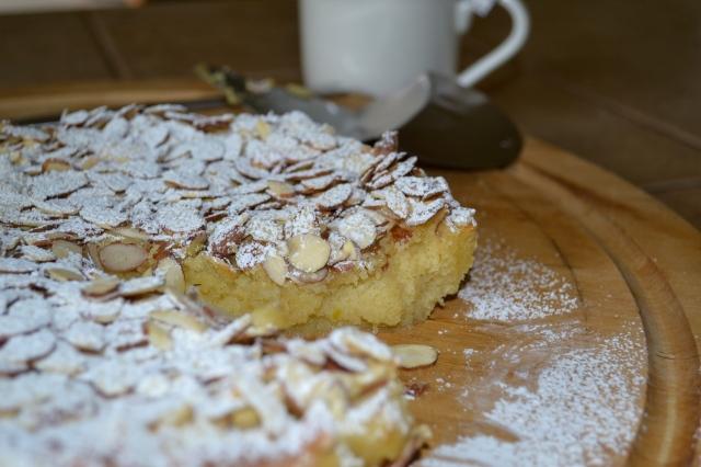 Almond Cake Served