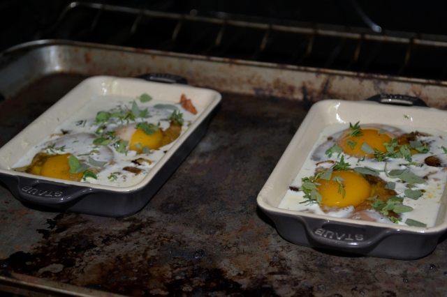 Baked Eggs - in the oven