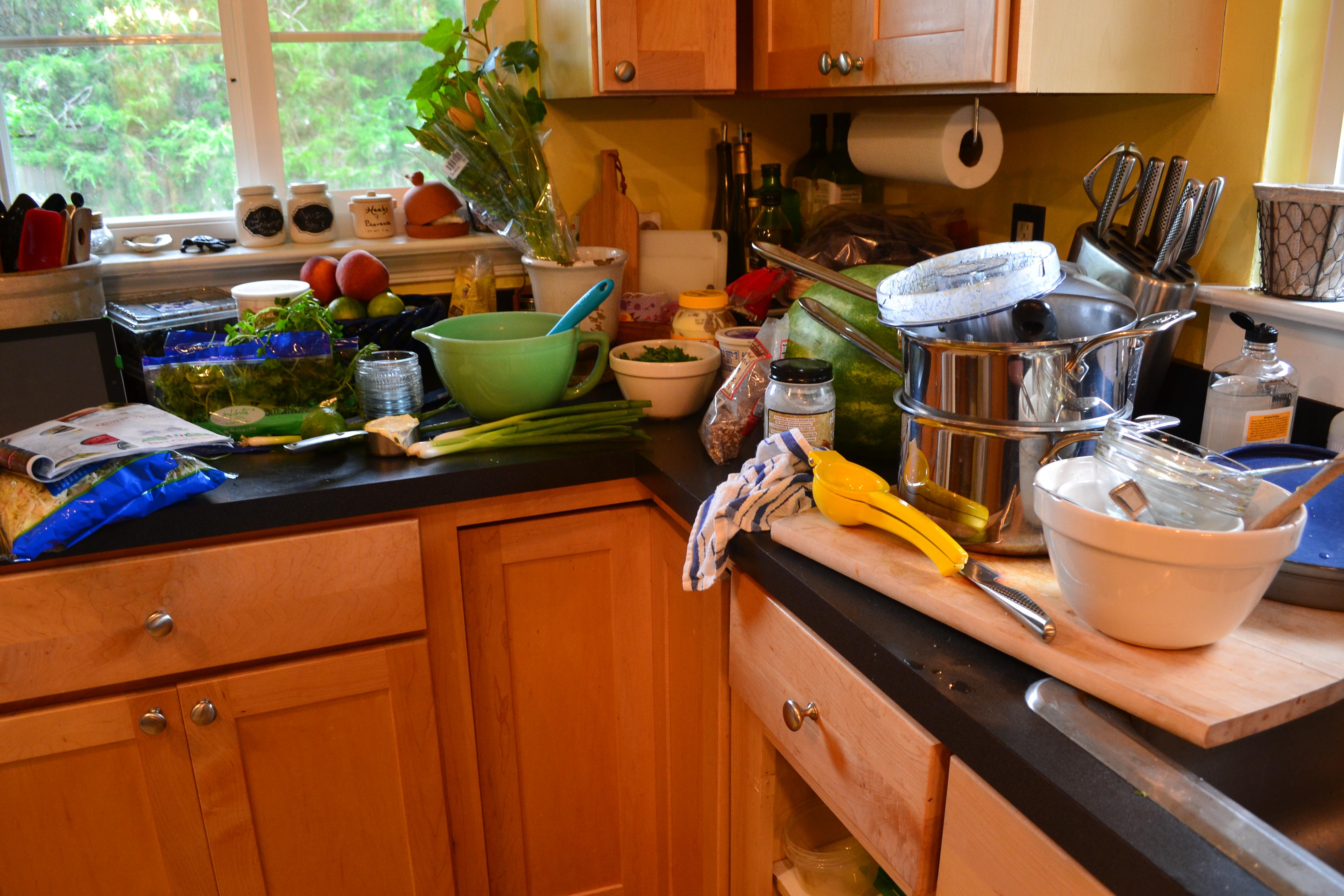 Messy Construction Kitchens : A frantic friday and fish tacos hospitality habit
