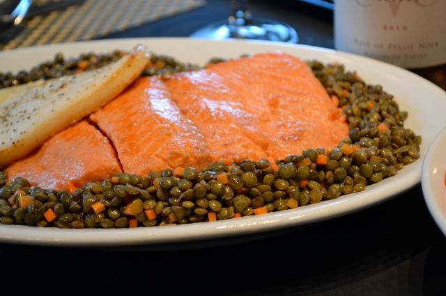 Salmon and Calamari Steak