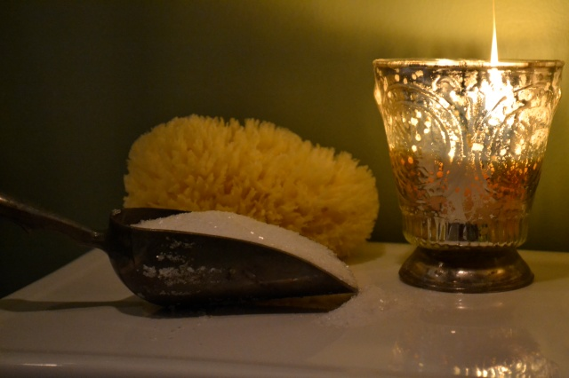 Epsom Salt and Candle